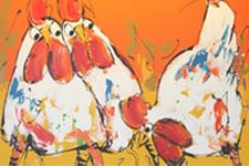 LIZ schilderij kippen
