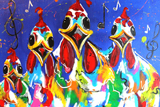 mir schilderij musical chicks