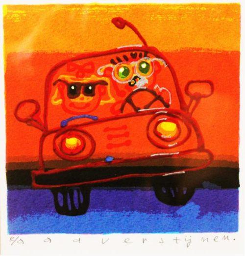 Auto zeefdruk ad verstijnen