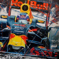 Eric jan kremer max verstappen red bull racing schilderij