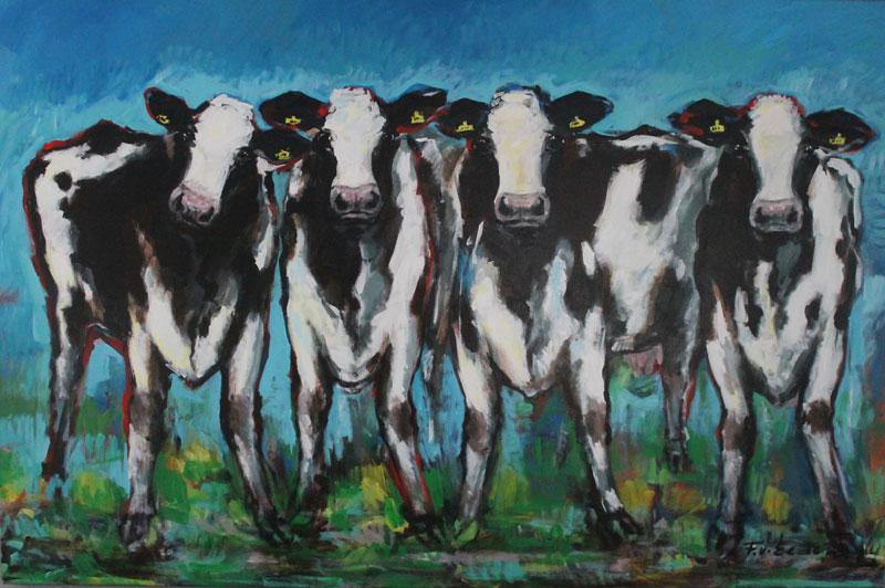 Frits van eeden koeien schilderij