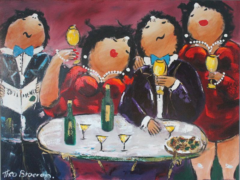 Theo Broeren schilderij gala dinner