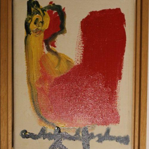 Anton heyboer kip schilderij