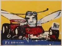 Herman brood zeefdruk f1 50 years
