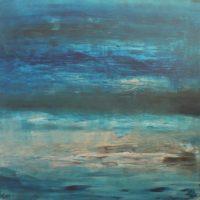 Ook zeezicht tiny de bruin abstract schilderij
