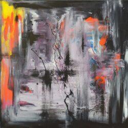 Tiny de Bruin schilderij abstract