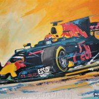 Max verstappen schilderij Eric Jan Kremer Formule 1 oranje