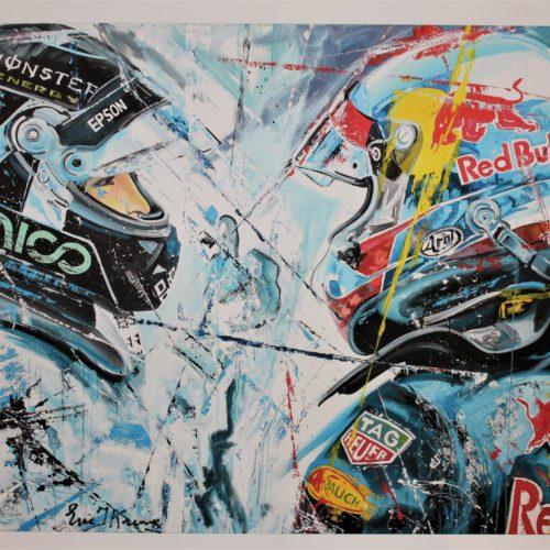 Max Verstappen Nico Rosberg zeefdruk eric jan kremer formule 1