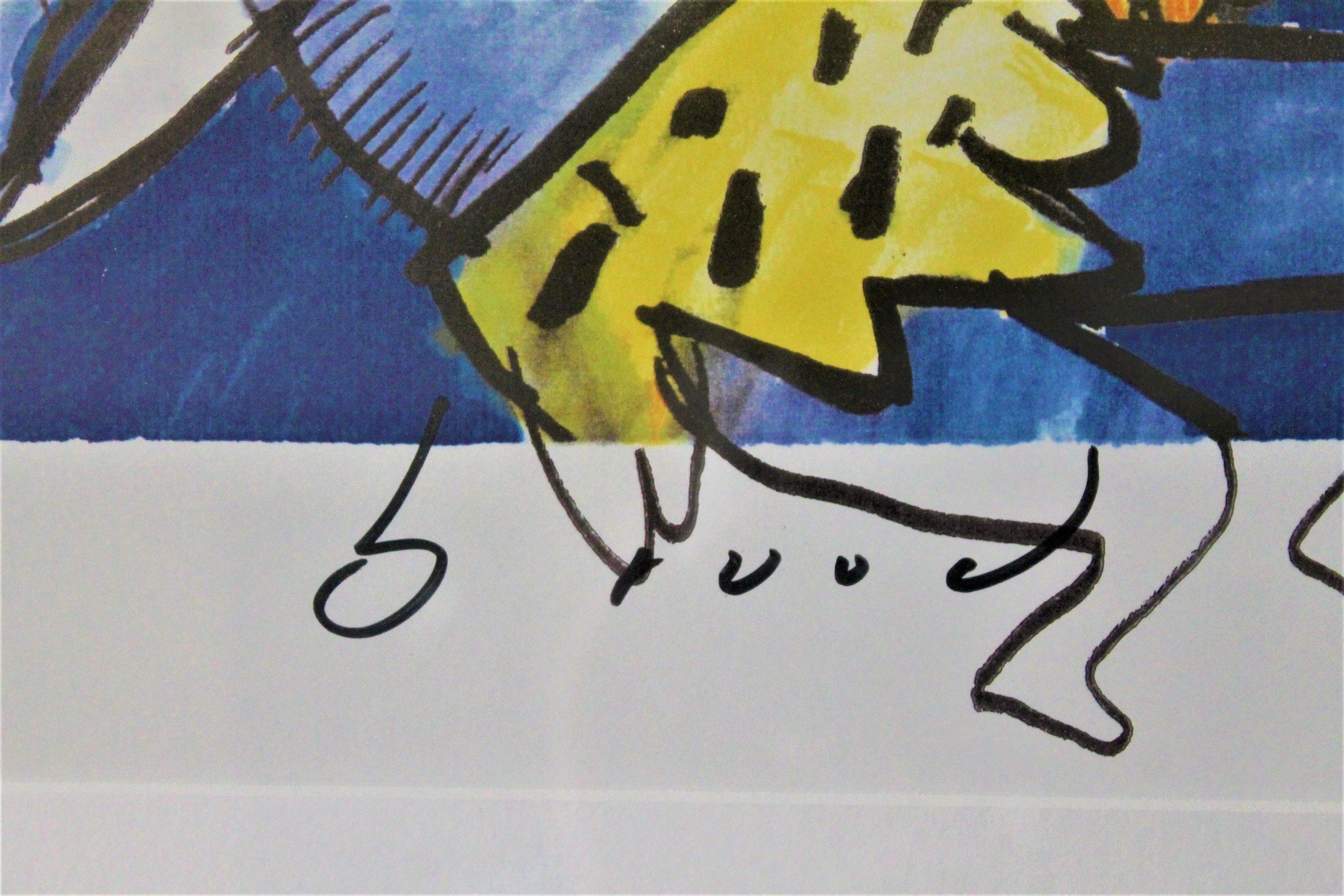 Tarzan and the lion king handtekening Herman Brood
