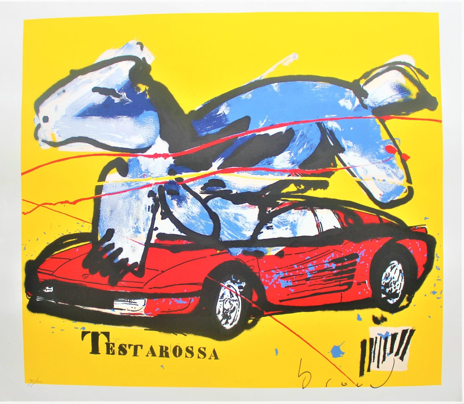Herman Brood testarossa zeefdruk