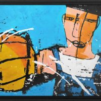 basketball king Martijn vincent smit schilderij