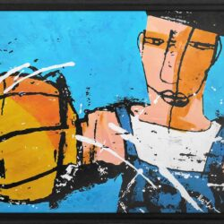 basketball king Martijn vincent smit schilderij