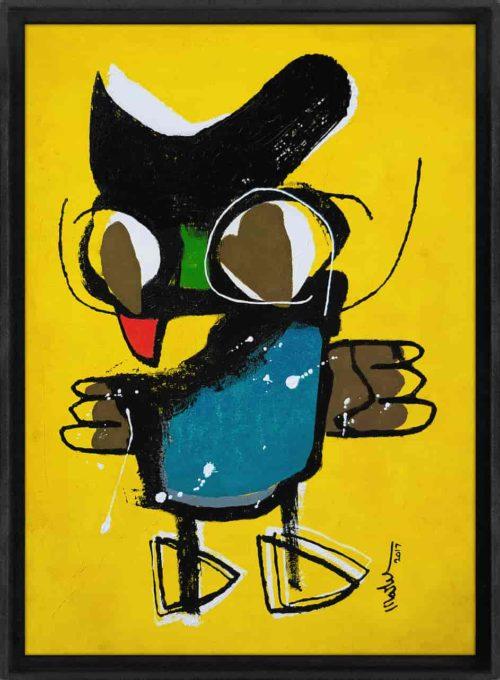 little owl Martijn vincent smit schilderij