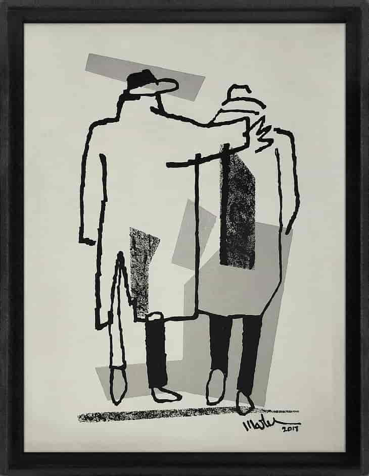 the walk Martijn vincent smit schilderij