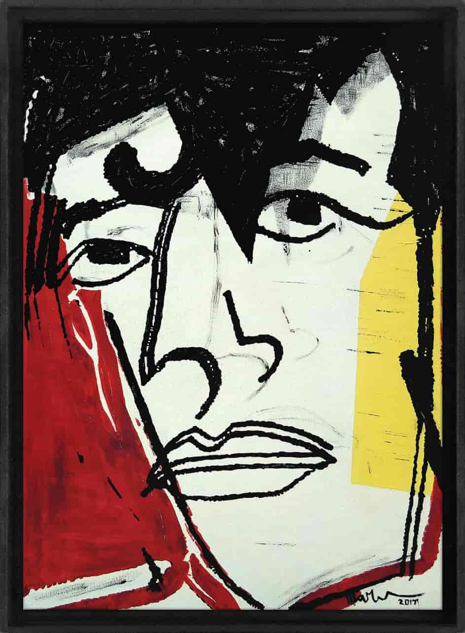 this is not herman brood Martijn vincent smit schilderij