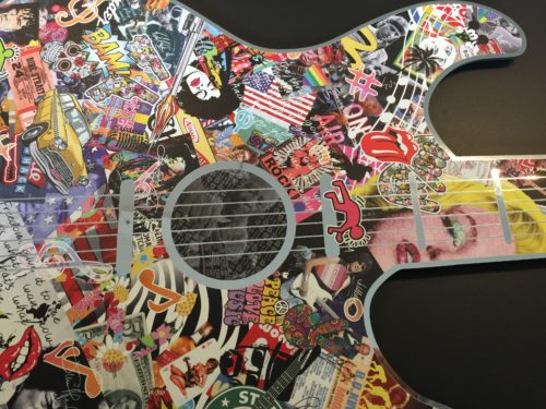 Michel daniels pop art gitar