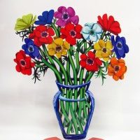 Poppies vase large