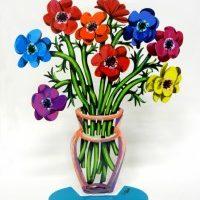 Poppies vase small