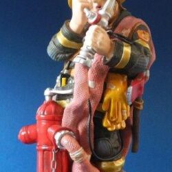Profisti - Kunst Cadeau- Brandweerman klein