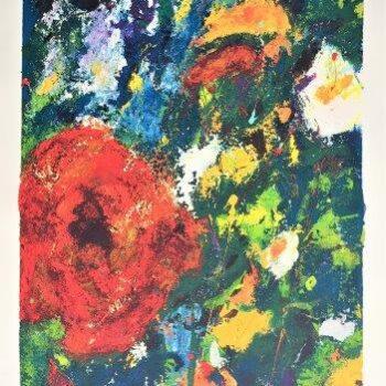 Frans Lauter - Zeefdruk - Bloemen 1