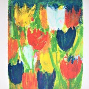 Frans Lauter - Zeefdruk - Bloemen 2