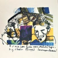 Herman Brood - Litho - Bruce Springsteen