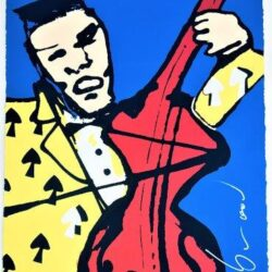 Herman Brood - Zeefdruk - Cellist