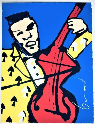 Herman Brood - Zeefdruk - Cellist