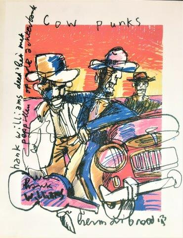 Herman Brood - Litho - Cow Punks