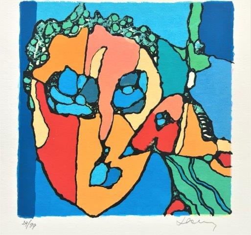 Jan Latinne - Zeefdruk - Dierenliefde