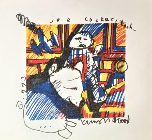 Herman Brood - Litho - Joe Cocker