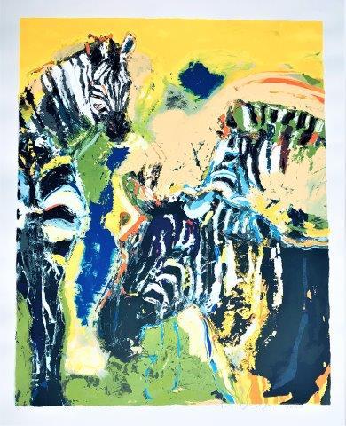 Carlos Blaaker - Zeefdruk - Zebras
