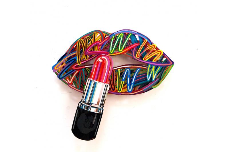 David Gerstein - Wall Sculpture - Lipstick