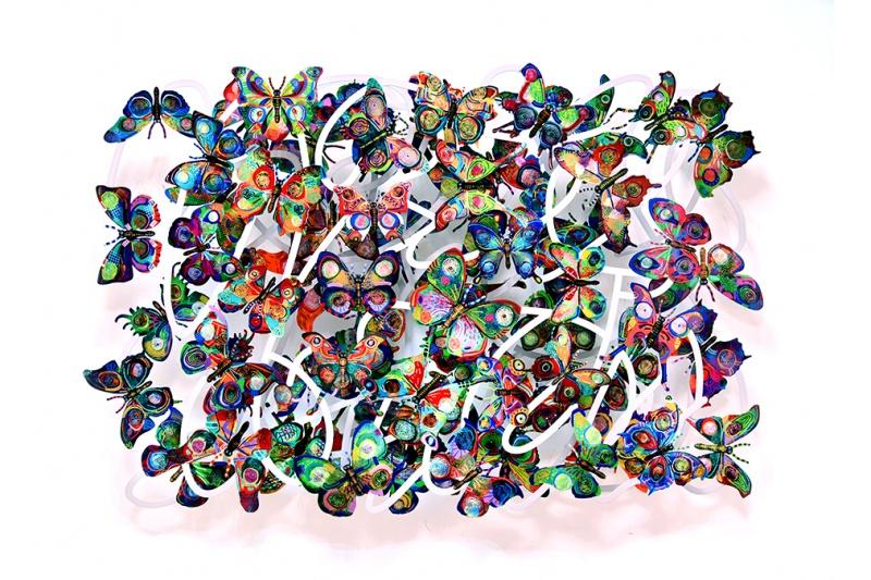 David Gerstein - Wall Sculpture - Magic cloud