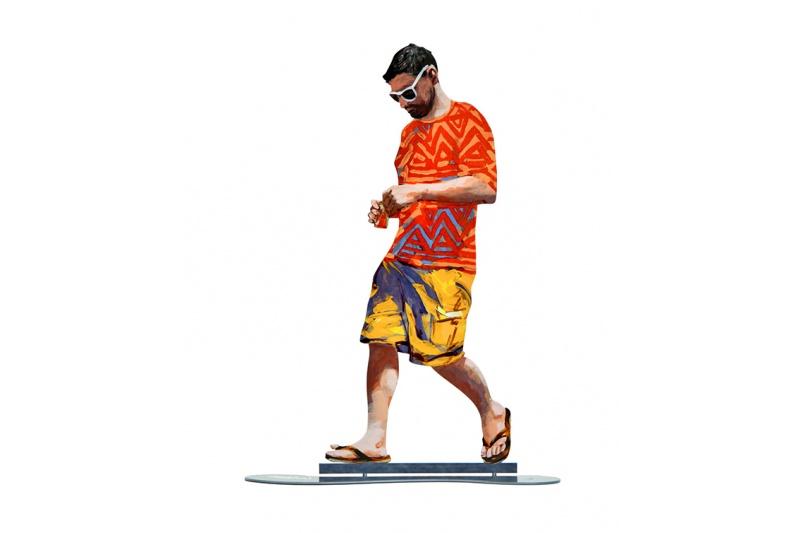 David Gerstein - Kunst Cadeau - Orange Shirt - 13