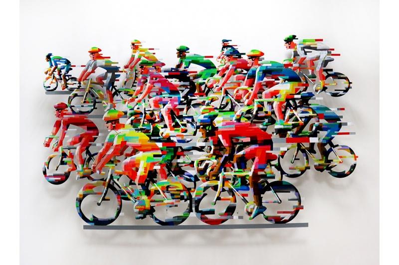 David Gerstein - Wall Sculpture - Racing