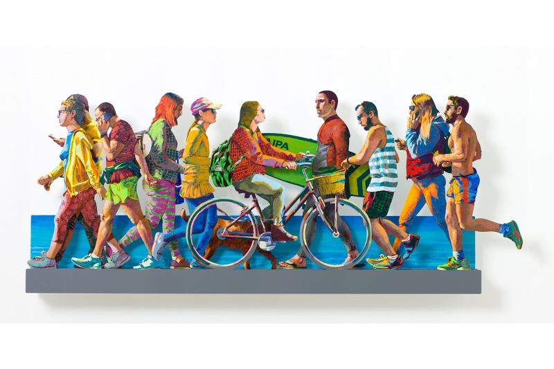 David Gerstein - Wall Sculpture - TLV beach promenade LEFT