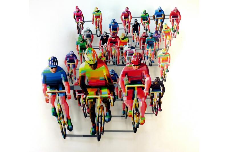 David Gerstein - Wall Sculpture - Tour de France frontal