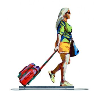 David Gerstein - Kunst Cadeau - Tourist With Red Trolley - 02