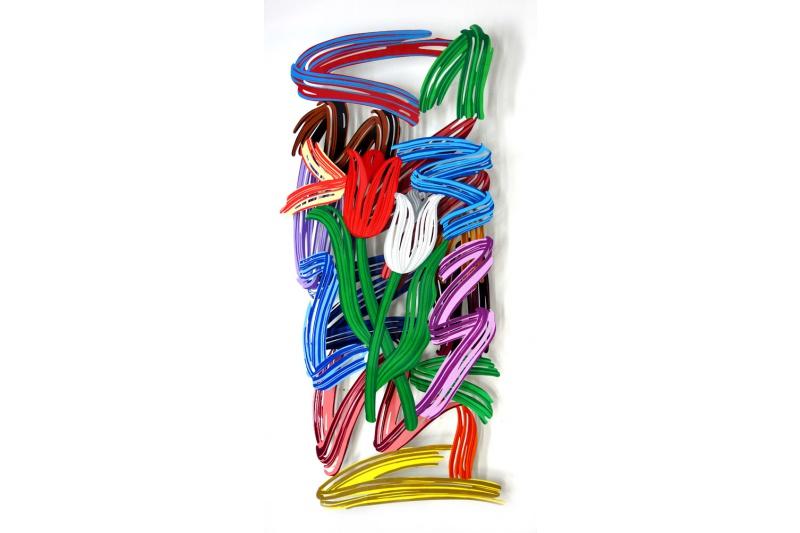 David Gerstein - Wall Sculpture - Tulips brish strokes
