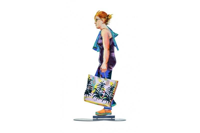 David Gerstein - Kunst Cadeau - Walker With Shopping Bag - 18