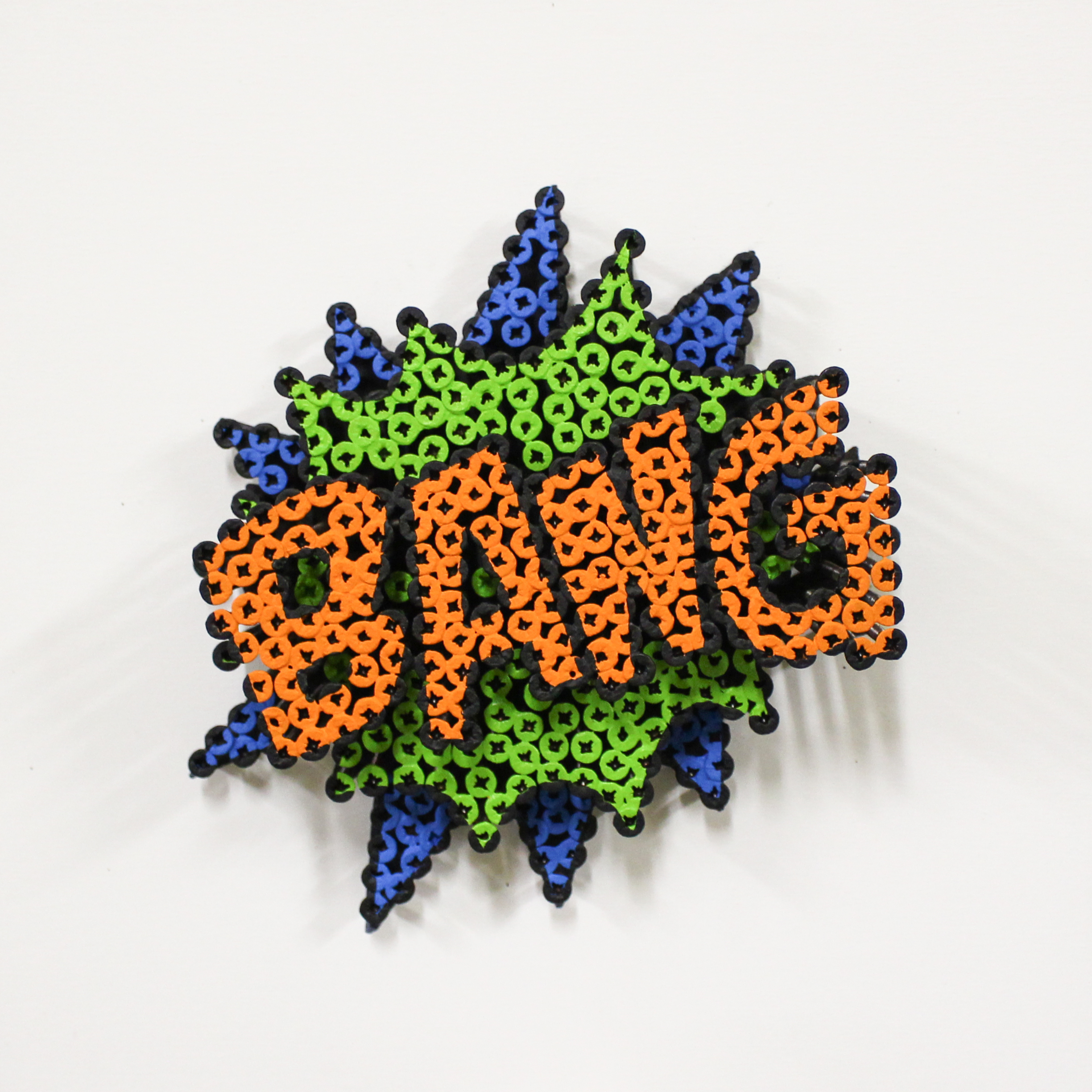 Alessandro Padovan - Screw art - Mini Bang Groen
