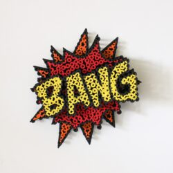 Alessandro Padovan - Screw art - Mini Bang rood