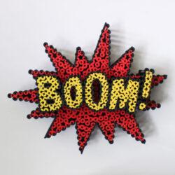 Alessandro Padovan - Screw art - Mini Boom rood 1