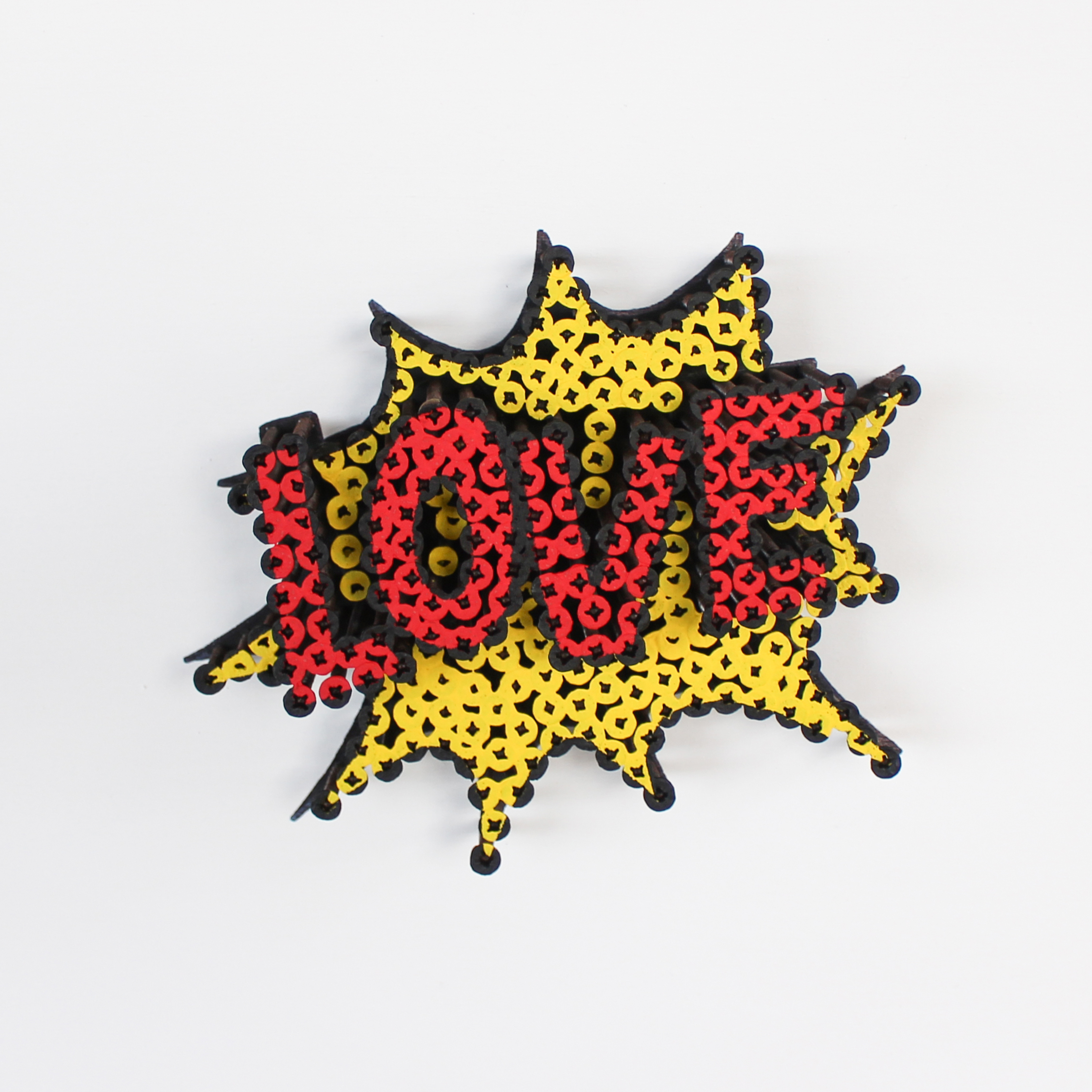 Alessandro Padovan - Screw art - Mini Love geel