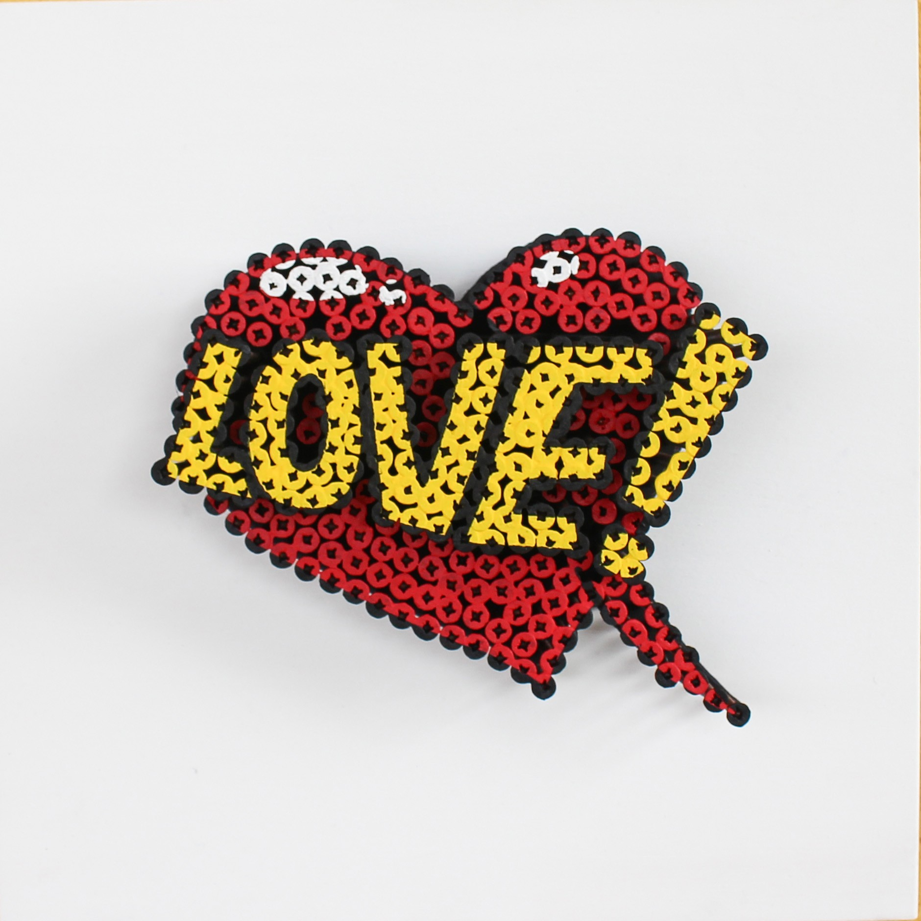 Alessandro Padovan - Screw art - Mini Love rood