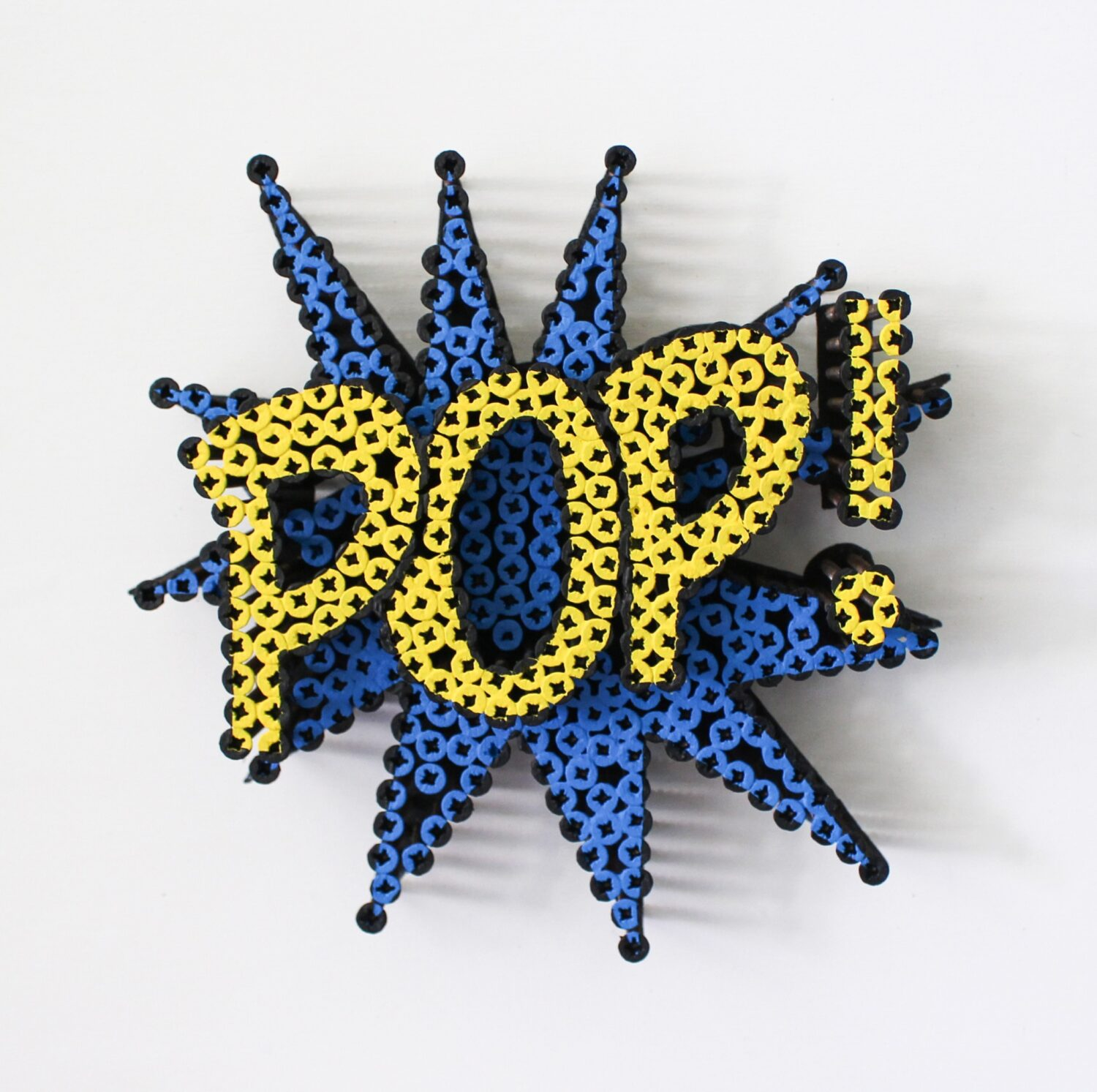 Alessandro Padovan - Screw art - Mini Pop blauw