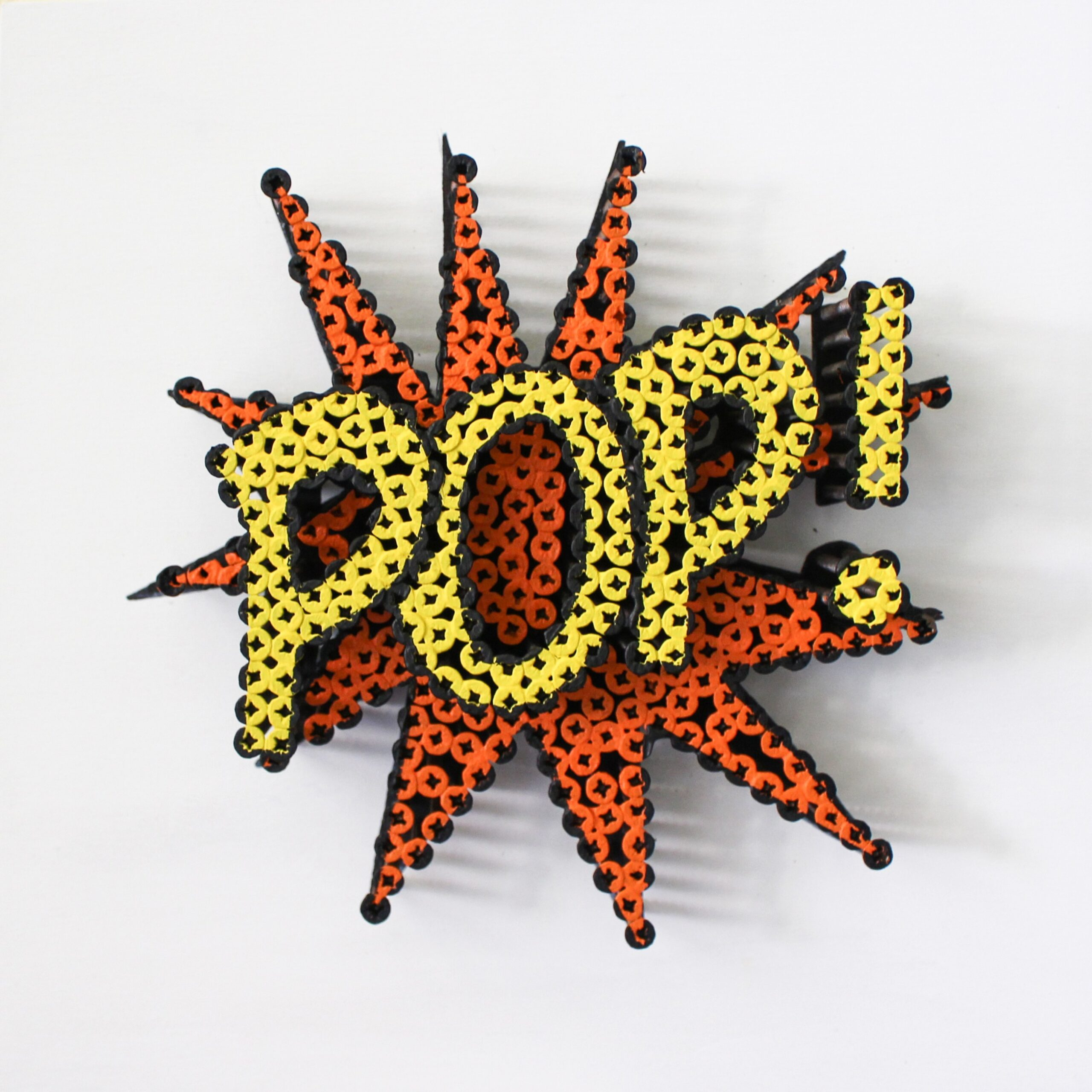 Alessandro Padovan - Screw art - Mini Pop oranje