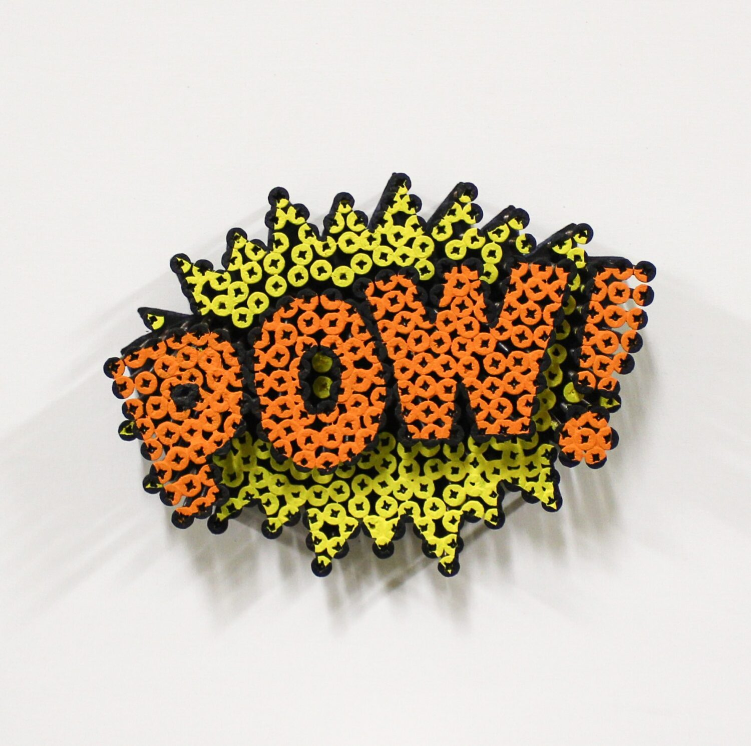 Alessandro Padovan - Screw art - Mini Pow geel