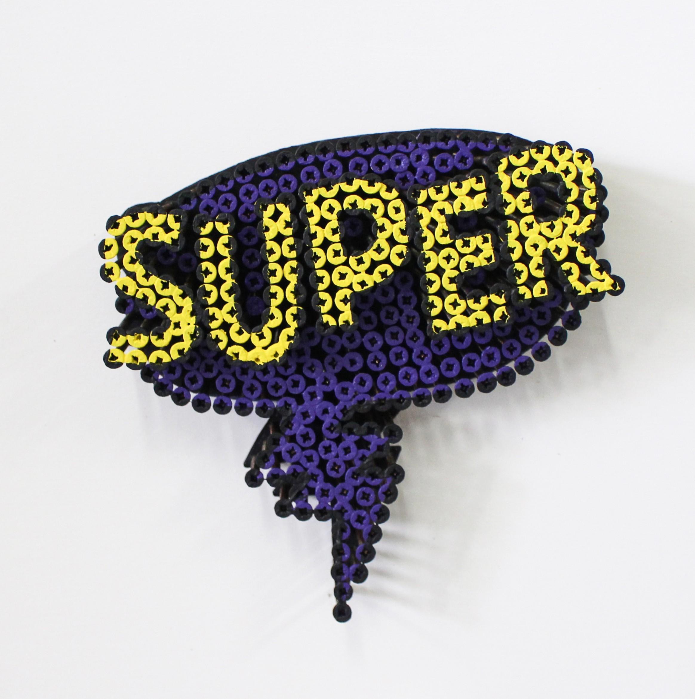 Alessandro Padovan - Screw art - Mini Super paars